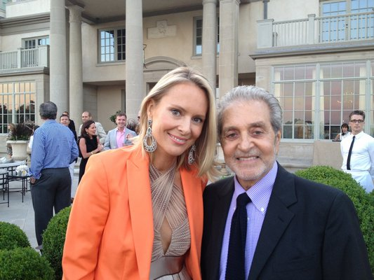 Louise and Vince Camuto at Villa Maria for the God's Love We Deliver cocktail party they hosted in 2013.  PRESS FILE