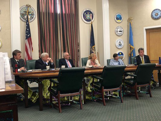 The Southampton Town Board listened to concerns from the public prior to passing a resolution authorizing the freeze. VALERIE GORDON