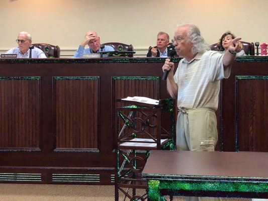 Members of the Quogue community came to the Village's final public hearing on Saturday to discuss the proposal to establish an erosion control taxing district to restore the eastern portion of the village's beach. VALERIE GORDON