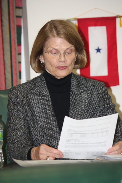 Southampton Town Councilwoman Nancy Graboski chaired a special meeting on Friday.