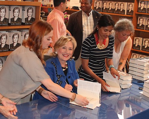 August 20 -- Former First Lady Hillary Clinton signs copies of her new book Hard Choices at Book Hampton in East Hampton.