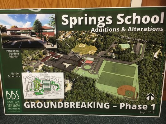 BBS Architects renovation and expansion plans for Springs School.