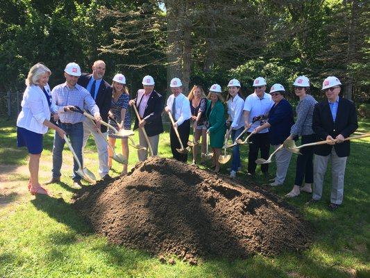 The Springs School broke ground on their long-awaited septic system on July 1.  COURTESY DEBRA WINTER