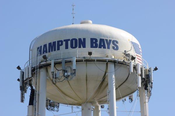 The Hampton Bays water tower. VALERIE GORDON