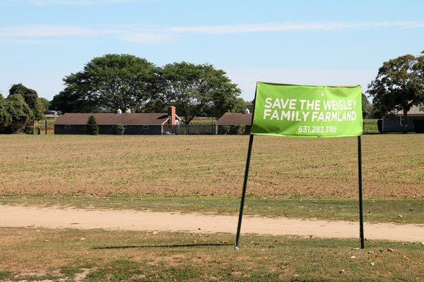 The Weigley family farmland in Wainscott. KYRIL BROMLEY