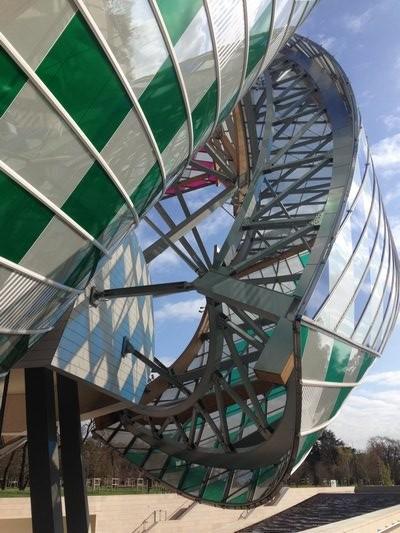 Frank Gehry's Fondation Louis Vuitton in the Bois de Boulogne. PRESTON T. PHILLIPS