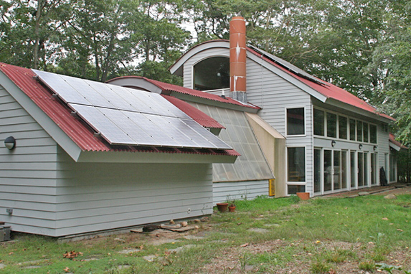 Bill Chaleff's home was one of the first solar houses in East Hampton. Chaleff's architectural firm has been building green houses since 1986.
