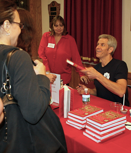Rip Esselstyn, author of The Engine 2 Diet, visited East Hampton last week to give a presentation, answer questions and sign copies of his book.