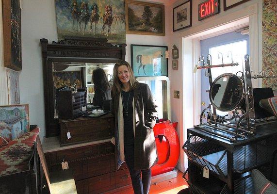Erica Broberg Smith has opened The Hampton Gather in East Hampton. KYRIL BROMLEY