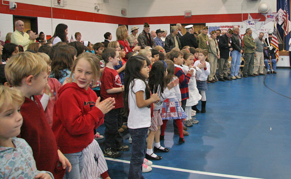 The East Hampton School District held its annual Veteran's Day event and welcomed local veterans to the John Marshall Elementary School, where they were honored through song, poetry and presentations by the students.
