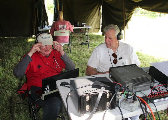 Members of the East Hampton Radio Club tested their radio communications equipment and skills at their annual emergency preparedness field day in Montauk last Saturday. Kyril Bromley
