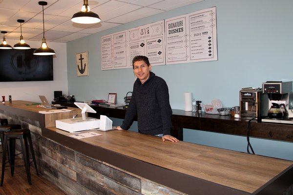 Diego Flores at his new Montauk restaurant, MTK Lobster House. KYRIL BROMLEY