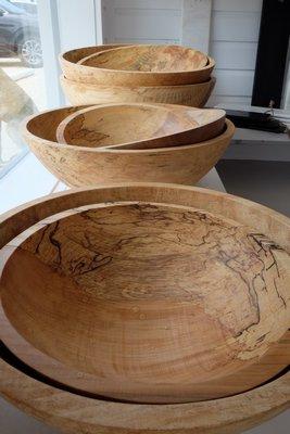 Wooden bowls. STEVEN STOLMAN