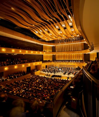 Inside Koerner Hall of the Royal Conservatory of Music in Toronto, by Marianne McKenna. TOM ARBAN