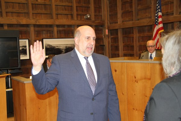 Samuel Kramer was appointed to the East Hampton Town Planning Board on Thursday, and will serve as the board's chairman.   MICHAEL WRIGHT