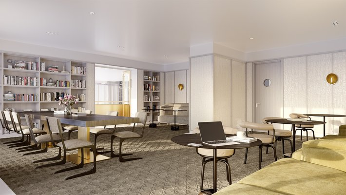 A rendering of the library at 40 East End. COURTESY DEBORAH BERKE COURTESY DEBORAH BERKE