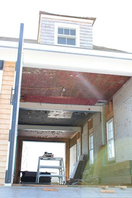 A restoration of the building's exterior is currently under way. PEGGY SPELLMAN HOEY
