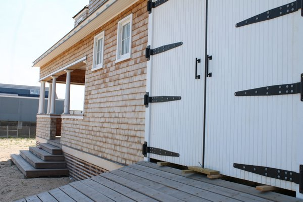 Barn doors opened to the station's boat bay. PEGGY SPELLMAN HOEY
