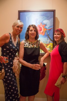 Julie Zoppo, Kathryn Jones and Heather Mcardle at Mark Borghi Fine Art at 'The Drawn Blank Series' opening by Bob Dylan. MAGGY KILROY