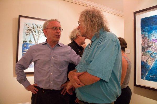 David Slater and Satn Birnbaum at Mark Borghi Fine Art in Bridgehampton on July 3rd. MAGGY KILROY