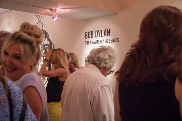 ArtHamptons hosts launch celebration with the Bob Dylan 'The Drawn Blank Series' exhibition on July 3rd at Mark Borghi Fine Art in Bridgehampton. MAGGY KILROY