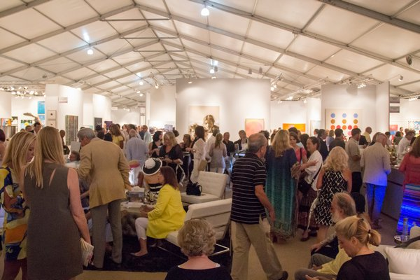 Scenes from the third annual Art Southampton, which opened on Thursday night with a VIP preview party. MAGGY KILROY