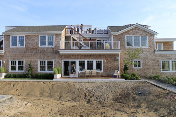 Ponquogue Point, a condo complex that is under construction in Hampton Bays, was opened to the public on Friday, July 17. KYLE CAMPBELL