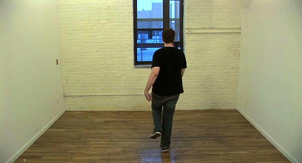 """A still from """"Slow motion walking the length of my studio"""" by Joe Nanashe. JOE NANASHE"""