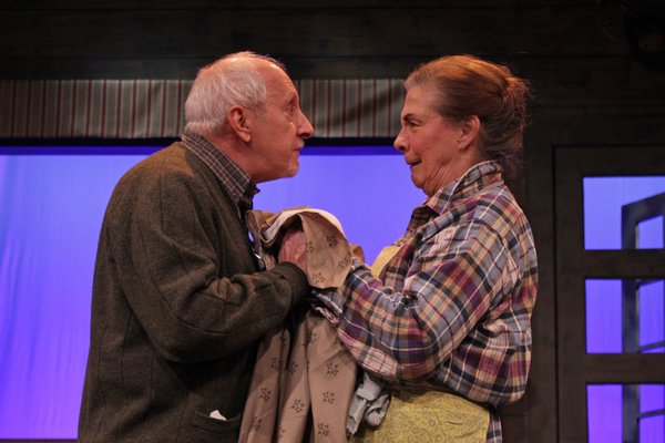 George Loizides and Diana Marbury in rehearsal for 'On Golden Pond,' opening Thursday, January 10, in Quogue.  TOM KOCHIE