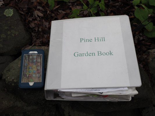 A 3-inch, three-ring binder really isn't practical to drag around the garden for journal work. But a protected iPhone or tablet can contain both your jornal and data, making it quite portable and even weatherproof. ANDREW MESSINGER