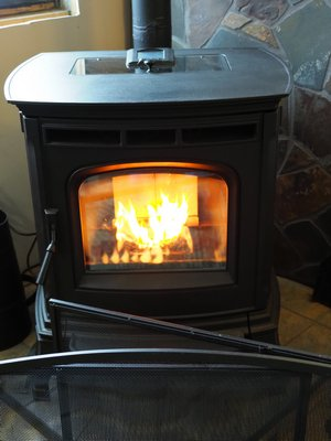 Pellet stoves don't burn with the same type of flame pattern as cordwood stoves. The pellet stove flames tend to be bunched in the center of the fire box and not spread across the box like you might find in a cordwood stove. ANDREW MESSINGER
