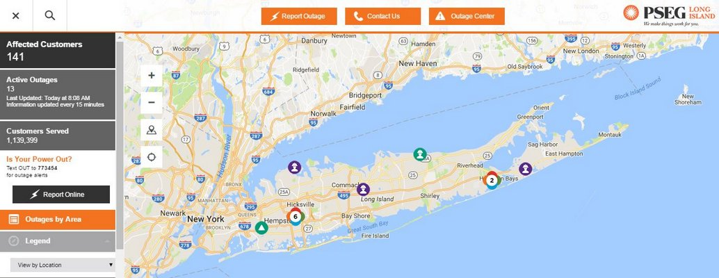 Pse&G Power Outage Map PSEG Launches Interactive Power Outage Map For Customers   27 East
