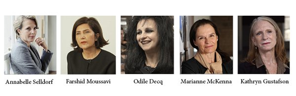 "The subjects behind ""Making Space/ 5 Women Changing the Face of Architecture."" COURTESY MELISSA ULREY"