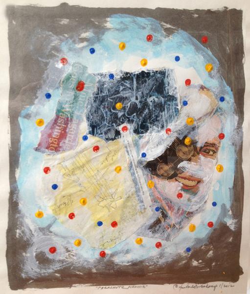 """Parachute Menhir"" by Hans Van de Bovenkamp."