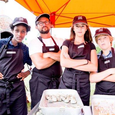 Leray Coulter, Arjun Achutan, Isabelle & Ejiah Topliff at last year's Chef's Dinner.  Jenny Gorman