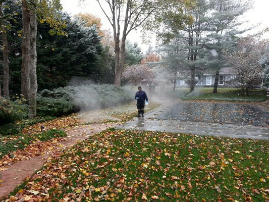 Winterize irrigation systems by blowing out all water from the pipes through the sprinkler heads. COURTESY RB IRRIGATION
