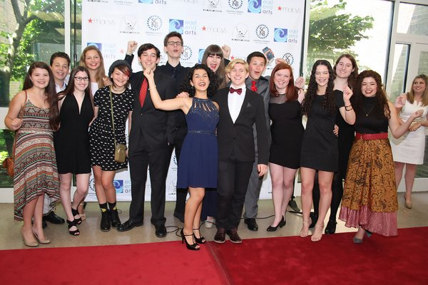 2015 Teeny Award nominees from Pierson High School on the read carpet TOM KOCHIE PHOTO