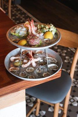 Sea Bar seafood tier. COURTESY PRESTON HOUSE AND HOTEL