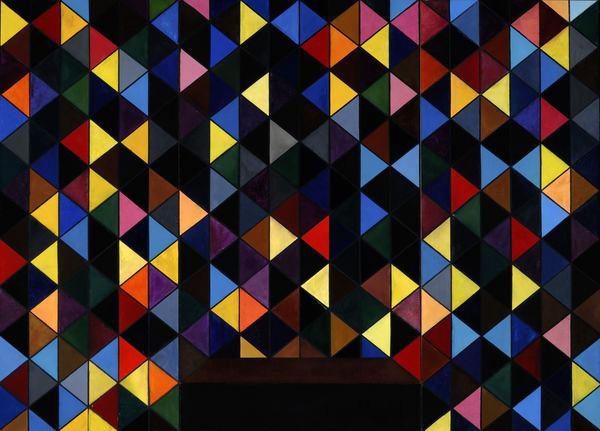 """Double Threshold""  Oil on Linen,  72 x 100, 1990 by Richmond Burton."