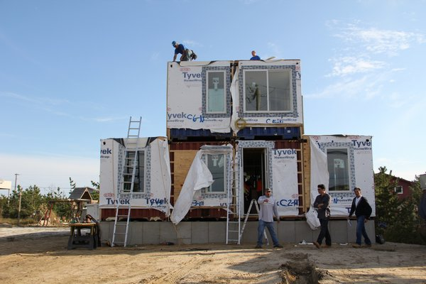 The Beach Box is assembled in 2011. COURTESY CHRISTIE ANDERSON