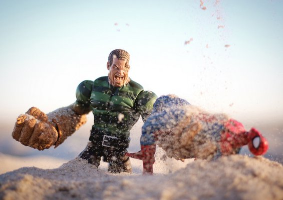 An example of Oliver Peterson's toy photography.   OLIVER PETERSON