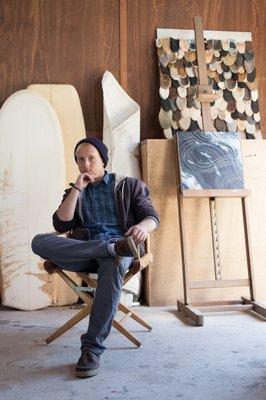East Hampton-based artist Scott Bluedorn.     JOSH COHEN