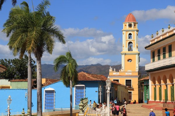 View from the Plaza Mayor. The tower has a view of the entire city. LINDA HINKLE LINDA HINKLE