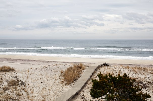 The view of the ocean from the pool deck on a brisk winter day. CHRISTIAN HARDER