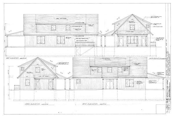 Elevations and planning for affordable housing at 531 Montauk Highway in Amagansett. COURTESY EAST HAMPTON HOUSING AUTHORITY