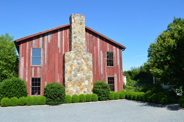 "Joan and George Hornig;s art barn in Water Mill serves as a site for a variety of events. A Clintion Global Initiative ""with all 3 Clintons"" is scheduled for later this summer. CHRIS ARNOLD"