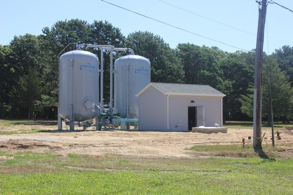 The Hampton Bays Water District's carbon filtration system. PRESS FILE