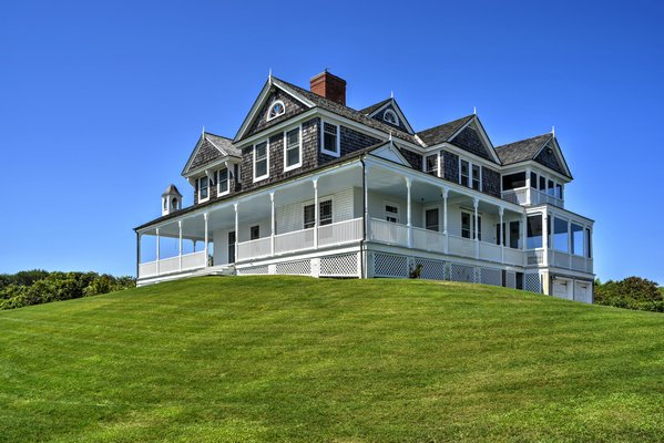 The asking price for Tick Hall, the Montauk home of the television host and writer Dick Cavett, was cut for the second time, down to $33.95 million. CHRIS FOSTER/CORCORAN