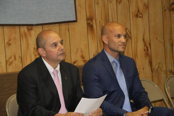 Just two candidates, David Lys and Manny Vilar, faced off in the 2018 town elections but the campaign fundraising for the special elecition has still not been resolved as the 2019 race gets started.    PRESS FILE