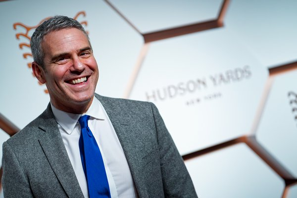 Andy Cohen at the Hudson Yards grand opening party in March. SEAN ZANNI/PATRICKMCMULLAN.COM